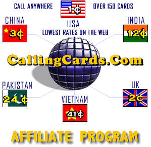 Be a pre-paid calling cards affiliate!
